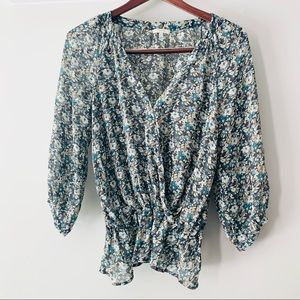 • joie • silk floral blouse small